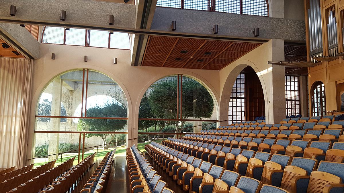 אולם העוגב- באונ' המורמונית, ירושלים
